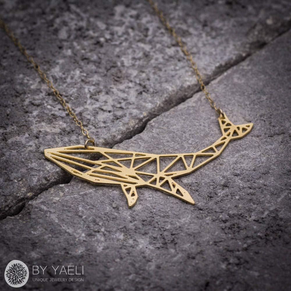 Whale Necklace Gold Whale Necklace Animal Jewelry Christmas Gift Gold Filled Necklace Nautical Necklace Nautical Jewelry
