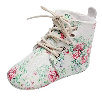 8563317f15ac Challen Unisex Kids Winter/Autumn Shoes,Floral Boots First Walkers Sport  Running Sneakers,
