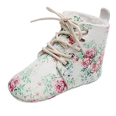 986567735661 Challen Unisex Kids Winter/Autumn Shoes,Floral Boots First Walkers Sport  Running Sneakers,