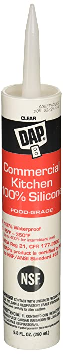 DAP INC 7079808658 Commercial Kitchen Silicone Cl Raw Building Material, 9.8 oz, Clear