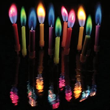 Amazon Amazing Colorflame Multicolor Happy Birthday Candles And