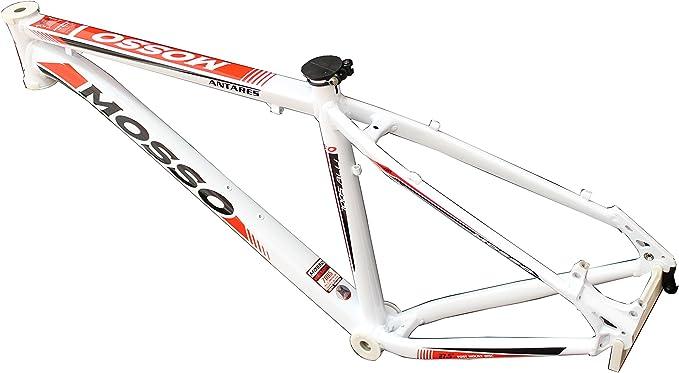 Mosso MTB 7530 TB - Cuadro, Color Blanco/Rojo, Talla 17