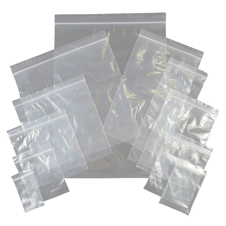 confezione da 100 pezzi 23 cm x 32,4 cm perfetti per il cibo e per il congelamento in plastica Thali Outlet Sacchetti richiudibili formato A4 impermeabili colore trasparente