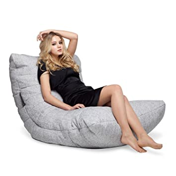 56d71cd129 Ambient Lounge Acoustic Sofa Designer Bean Bag with Filling Tundra Spring  Interior Fabric  Amazon.co.uk  Kitchen   Home