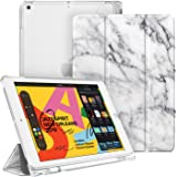 """Fintie Case with Pencil Holder for iPad 7th Gen 10.2 Inch 2019 - Slim Shell Lightweight Cover with Translucent Frosted Stand Hard Back Protector Supports Auto Wake/Sleep for iPad 10.2"""", Marble"""