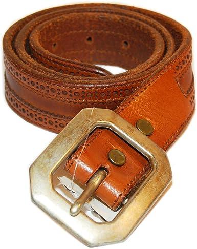 Ralph Lauren RRL - Cinturón de piel para hombre, estilo vintage ...