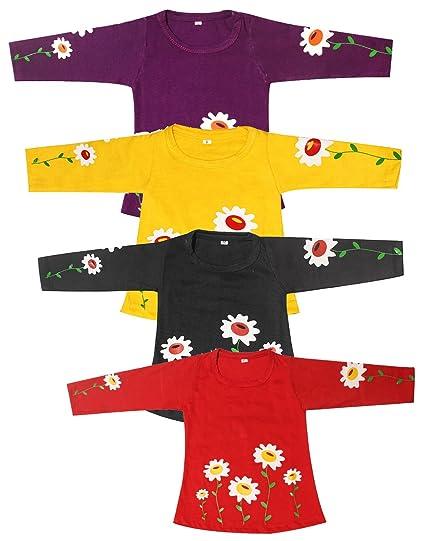 579ab70bb Babeezworld Baby Girl s Printed Cotton Full Sleeves Vest Tshirt ...