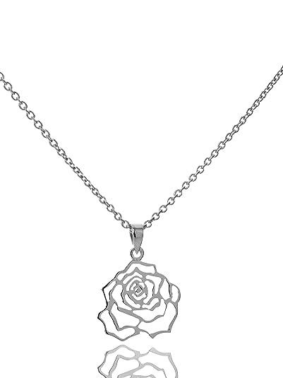 Anhänger Rose 925//Sterling Silber Rosenmotiv