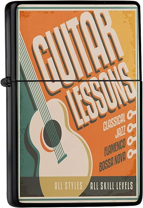 Encendedor De Gasolina Impreso Recargable Clases de guitarra ...