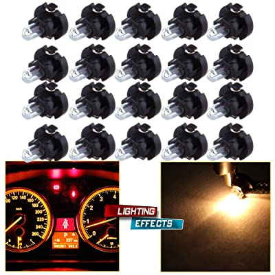 cciyu 20 Pack Warm White T3 Neo Wedge Halogen Bulb Replacement fit for A/C Climate Control Light 12V: Automotive