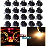 CCIYU 20 Pack Warm White T3 Neo Wedge Halogen Bulb For A/C Climate Control Light 12V