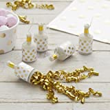 Ginger Ray Gold Spotty Foiled Metallic Birthday Party Poppers - 25 Pack - Pick And Mix