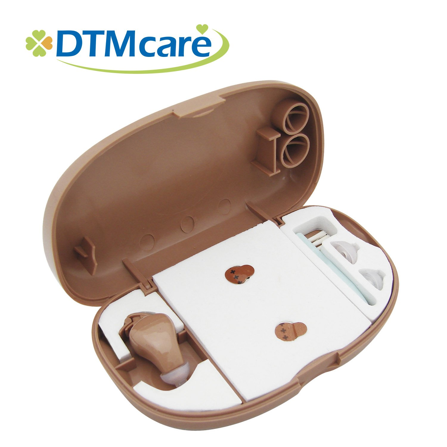 Canal Hearing Amplifier-Battery Operated(312 / PR41 button cell battery)-Mini Size-Fit Both Ears-FDA Registered/CE Medical Approved