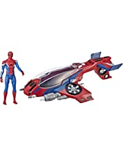 MARVEL SPIDERMAN - Spider-man & Spider Jet - Far From Home - Titan Hero Power FX Compatible - Kids Super Hero Toys - Ages 4+