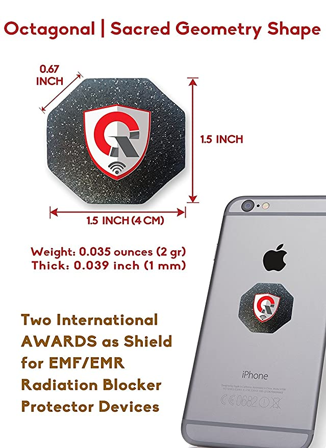 2 count: Bloqueadores de Radiaciones EMF: Anti Radiación EMF/EMR para MÓVIL + Protector de Campo de Energía Personal: Amazon.es: Electrónica