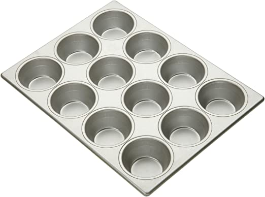 Gray Signature Commercial Grade Non-Stick 12 Cup Muffin Pan