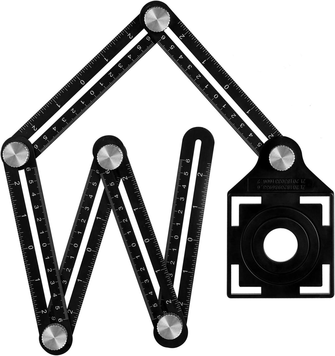 Regla de Medición Herramienta de Plantilla, Plegable Multi Angulo Regla de Medidas para Artesano, Constructor, Carpintero, Arquitecto【Aleación de Aluminio】: Amazon.es: Bricolaje y herramientas