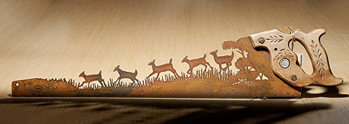 Amazon.com: Metal Art - Herd of Deer running - Wall Art - Wall Decor ...