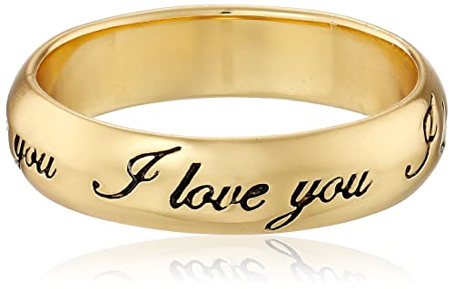 Amazon Com Gold Plated Sterling Silver I Love You Ring Size 8
