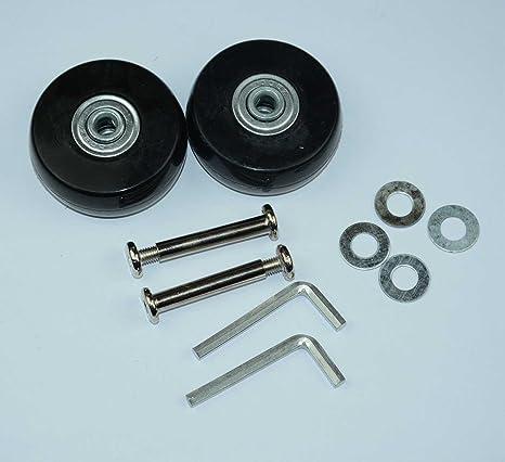 Ruedas de repuesto Lovinstar para maleta, diámetro exterior de 50 mm (50 x 20