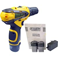 Cheston 10 mm Dual Speed Keyless Chuck 12V Cordless Drill/Screwdriver with 2 Batteries, LED Torch Variable Speed and Torque Setting (19+1)