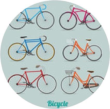 alfombrilla de ratón Ilustración retro del vector de la bicicleta ...