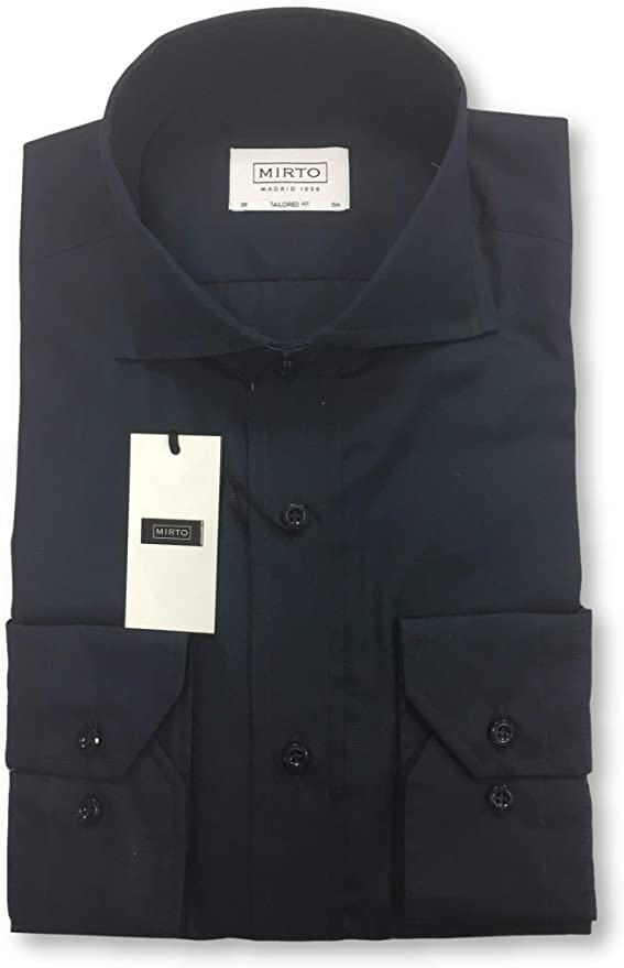 Mirto Tailored fit Shirt in Navy - 15.5: Amazon.es: Ropa y accesorios