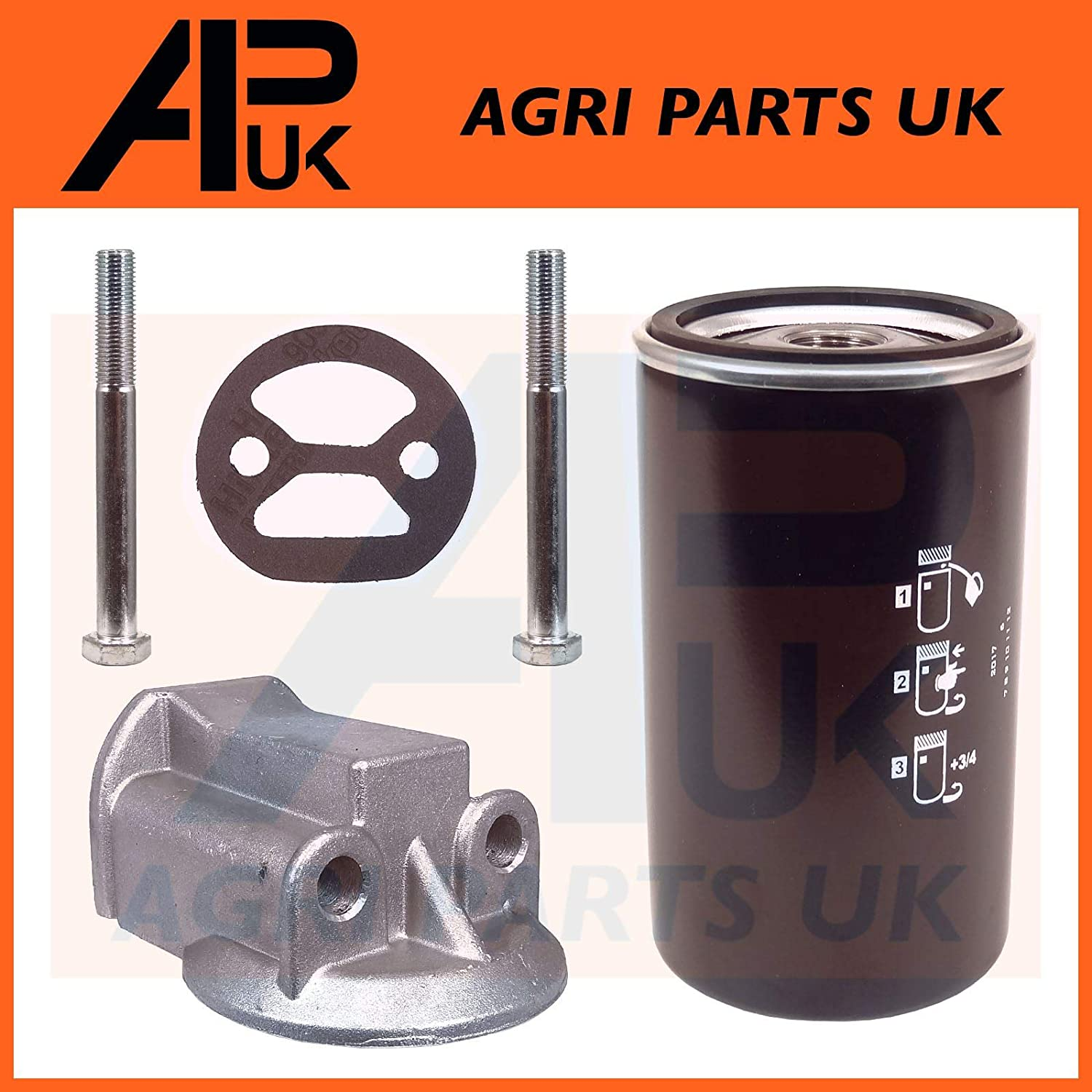 APUK Spin on Oil filter Conversion Kit Compatible with Leyland 245 253 502 602 604 702 802 Tractor