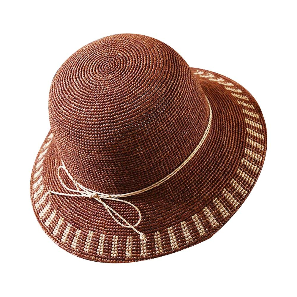 3 Xiao Jian Hat  Women's Straw Hat Summer Seaside Beach Vacation WideBrimmed Sun Hat Foldable UV Predection Sunscreen Cap (3 colors) Summer hat