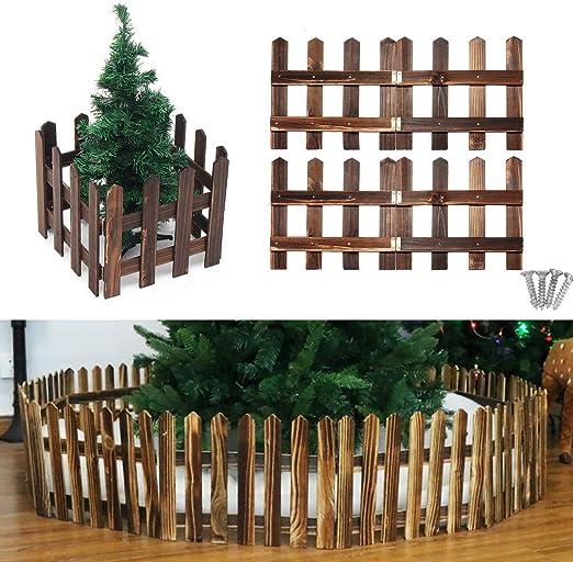 Valla de Madera para jardín con Tornillos, Adecuado para árboles de Navidad, césped, Mascota, 47 x 11.8 Pulgadas: Amazon.es: Juguetes y juegos