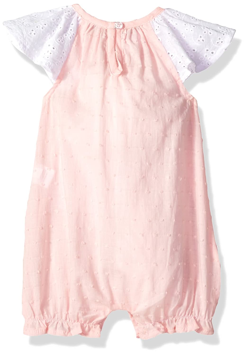 Mud Pie Baby Girls Easter Bunny Smocked One Piece Bubble Playwear