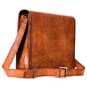 0c42334cc2fa CraftShades Vintage Handmade Full Flap 100% Genuine Leather Messenger Bag Office  Bag Tablet Bag (Tan Brown) (10   3   13)  Amazon.in  Bags