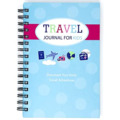 Travel Journal for Kids- Fun and Easy Way to Document Several Childhood Vacations in One Journal (Blue): Office Products