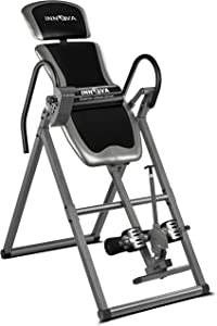 Innova Inversion Table with Adjustable Headrest, Reversible Ankle Holders, and 300 lbs Weight Capacity