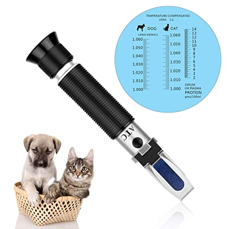 Clinical Veterinary Refractometer with ATC Serum Protein 2-14g//dl Animal Cat Dog