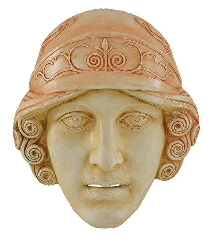 Diosa Athena máscara – Teatro griego de la Antigüedad – Pantalla de Atenas