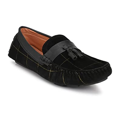 4dd90c4ad6 Big Fox Men s Driving Suede Check Loafers  Buy Online at Low Prices in  India - Amazon.in