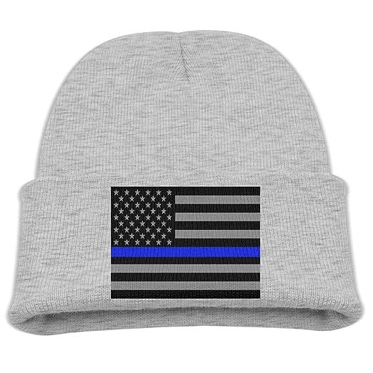Amazon.com  ZWZ Blueline Flags Kid s Hats Winter Funny Soft Knit Beanie Cap  children Unisex  Clothing 65250c75081