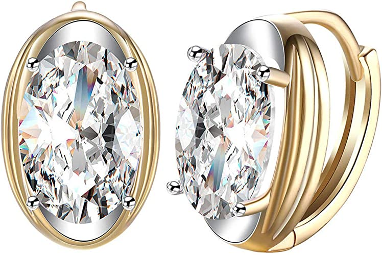 1.00 TCW Round Cut Simulated Diamond Solitaire Stud Earrings 925 Sterling Silver