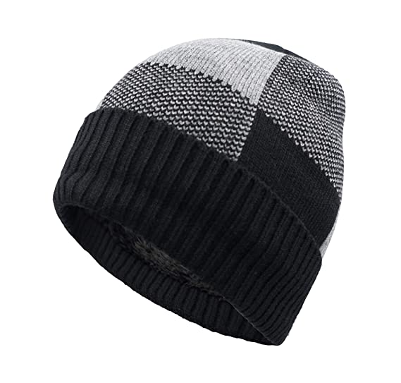 Home Prefer Winter Warm Knitting Hats Cuff Beanie Hat Skull Caps for Men  Knit Beanie Daily bef6d6a955c0