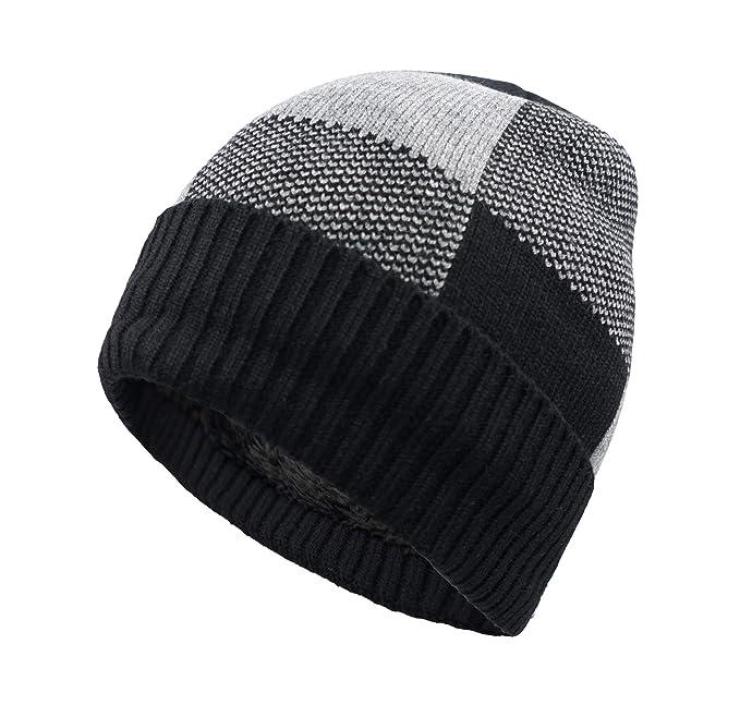 6f571d8fb9f Home Prefer Winter Warm Knitting Hats Cuff Beanie Hat Skull Caps for Men  Knit Beanie Daily