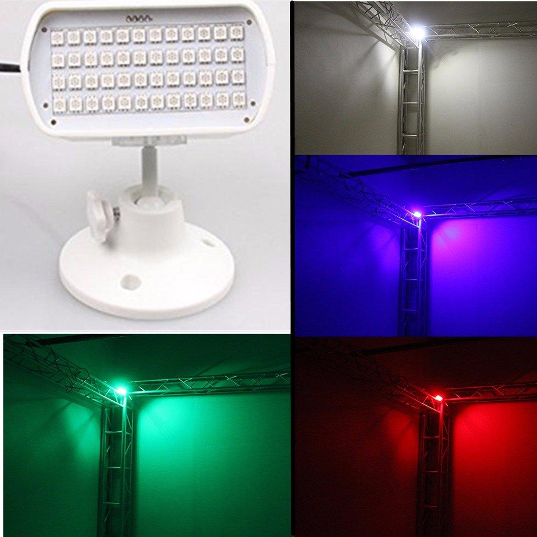 Per Club //Party //DJ Bar //KTV//Wedding White GLISTENY Strobe Light RGB 5050 LED Attivazione Vocale Proiettore Lampadina Mini Palla Lampada Discoteca Luce Luci Palco