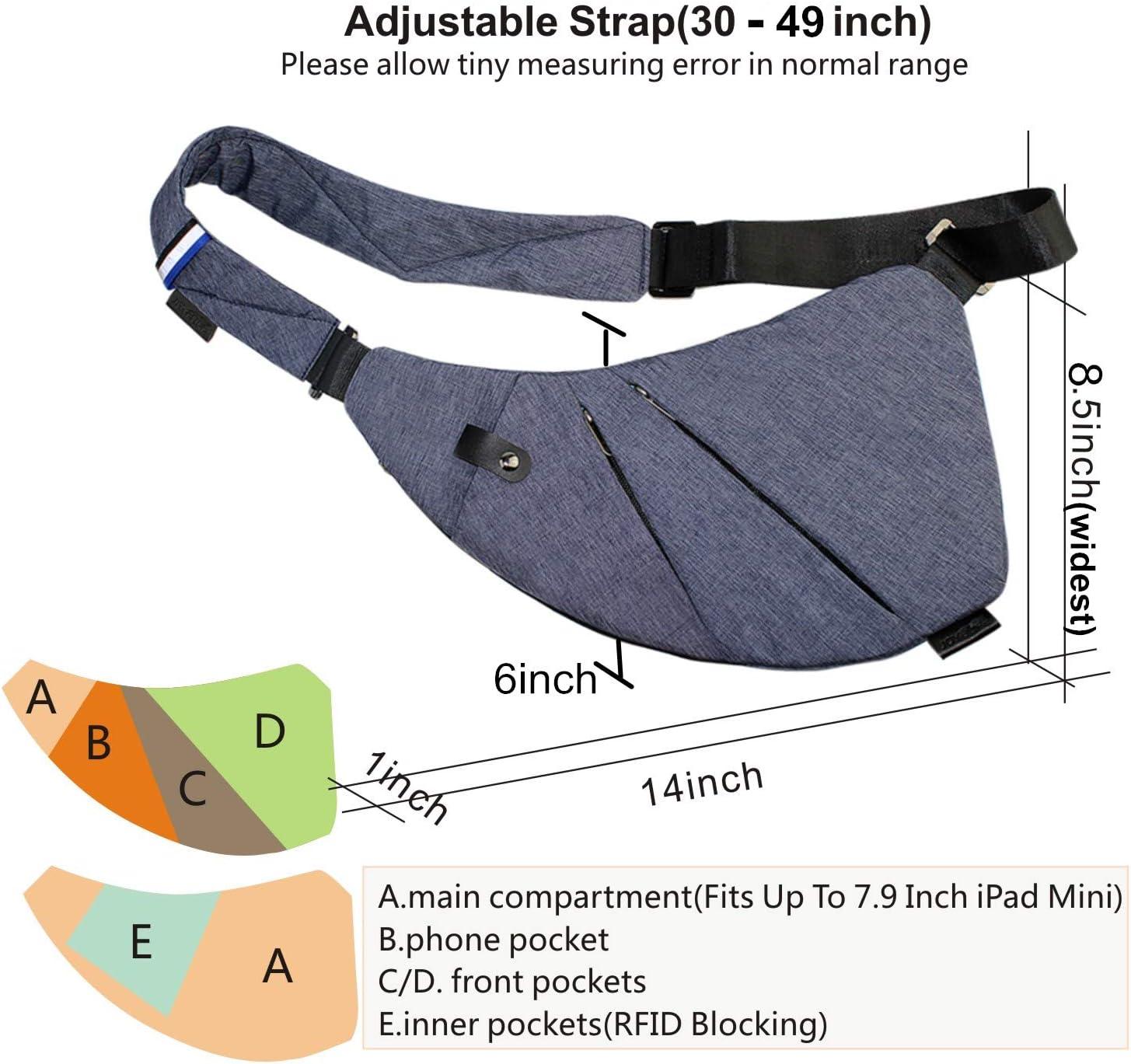 TOPNICE Sling Bag for Men Crossbody Shoulder Chest Backpack Anti Theft Travel Bags Daypacks for Men Women Dark Blue