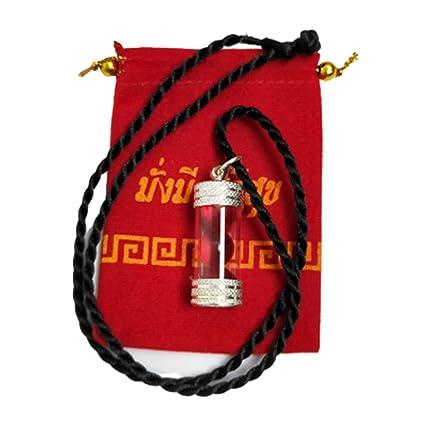 Naga Eye Red Gems Pendant Talisman Thai Amulet Lucky Love Charm Powerful Wealth