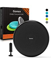 Gonex Core Balance Disc, Inflated Stability Wobble Cushion with Pump, Home Gym Fitness Equipment, Office Chair Cushion, Kids Classroom Wiggle Seat
