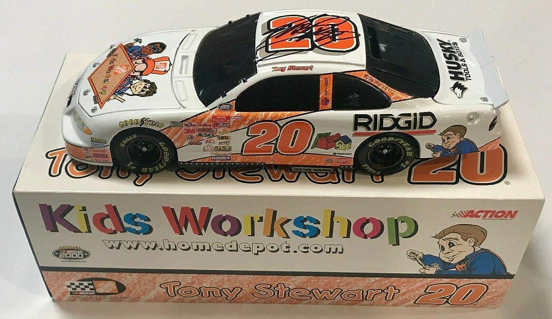 2000 Tony Stewart Home Depot Workshop NASCAR Signed Auto 1/24 Diecast Car COA - Autographed Diecast Cars