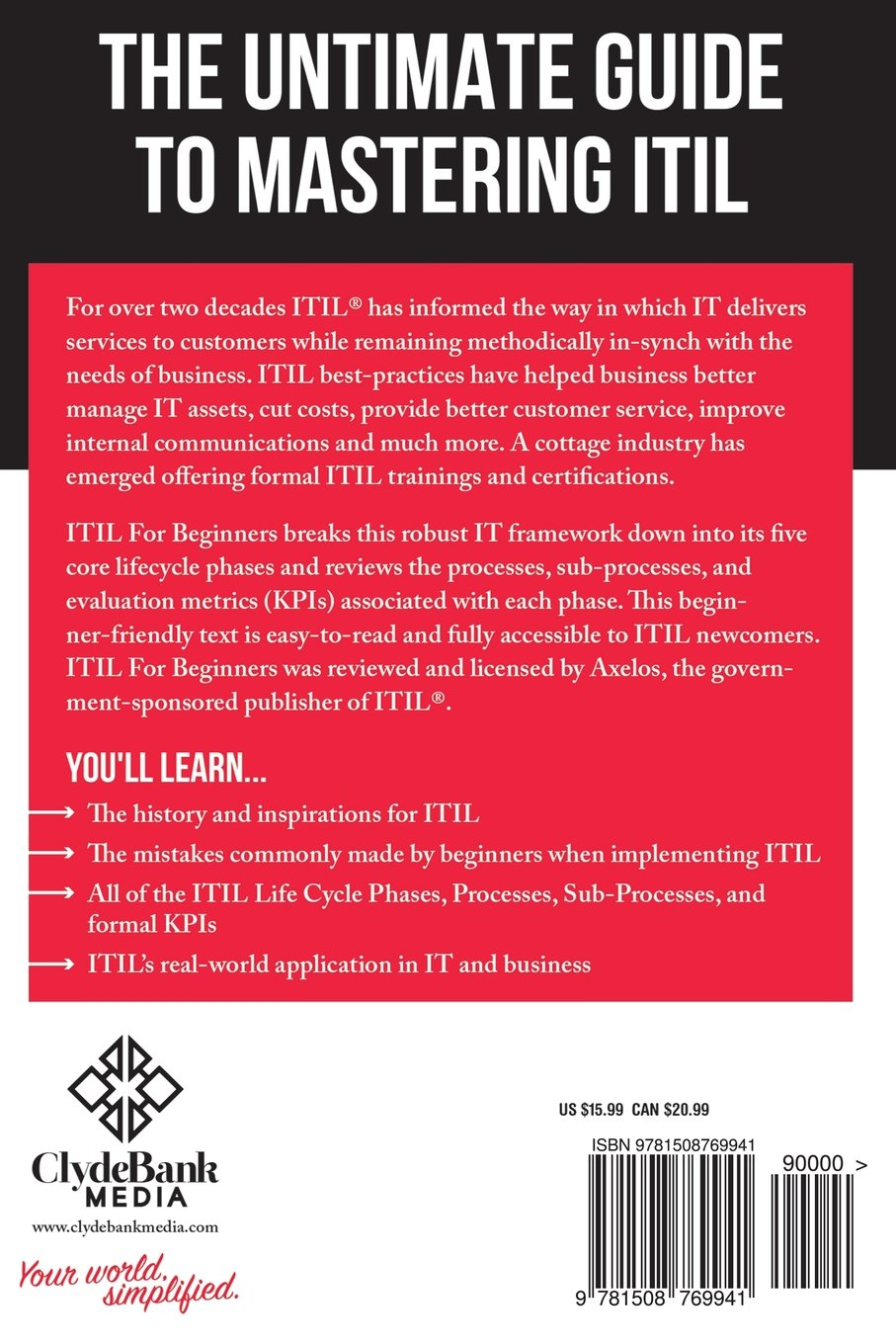 Itil for beginners the complete beginners guide to itil amazon itil for beginners the complete beginners guide to itil amazon clydebank technology 9781508769941 books 1betcityfo Images