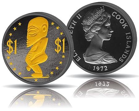 Rhodium Wertvoller Als Gold Münze 24 Karat Echt Vergoldet 1