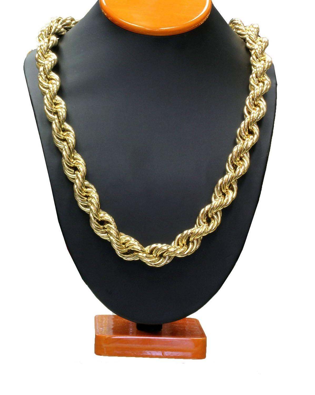 Gold tone 36 16mm run dmc hip hop dookie rope chain high quality gold tone 36 16mm run dmc hip hop dookie rope chain high quality amazon sciox Gallery