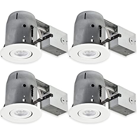 amazon com globe electric 90957 5 led ic rated dimmable downlight